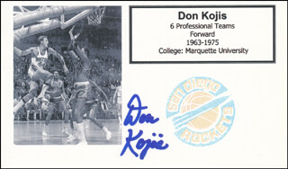 DON KOJIS - PRINTED CARD SIGNED IN INK