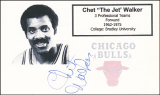 CHET THE JET WALKER - PRINTED CARD SIGNED IN INK