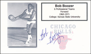 Autographs: BOB BOOZER - PRINTED CARD SIGNED IN INK