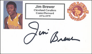 Autographs: JIM BREWER - PRINTED CARD SIGNED IN INK