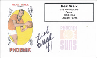 NEAL WALK - PRINTED CARD SIGNED IN INK