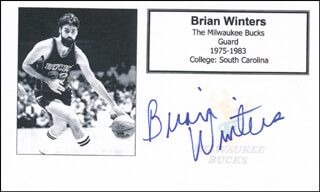 BRIAN WINTERS - PRINTED CARD SIGNED IN INK