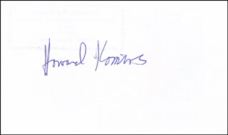 HOWARD KOMIVES - PRINTED CARD SIGNED IN INK