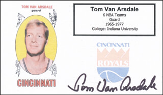 TOM VAN ARSDALE - PRINTED CARD SIGNED IN INK