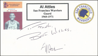 AL ATTLES - AUTOGRAPH NOTE SIGNED