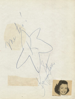 KAY STARR - ORIGINAL ART SIGNED CIRCA 1949 CO-SIGNED BY: HANK PENNY, RED EGNER, MRS. HANK PENNY