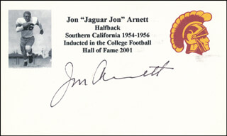 JON JAGUAR JON ARNETT - PRINTED CARD SIGNED IN INK