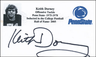 KEITH DORNEY - PRINTED CARD SIGNED IN INK