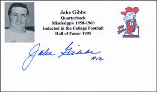 JAKE GIBBS - PRINTED CARD SIGNED IN INK