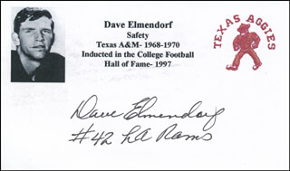 DAVE ELMENDORF - PRINTED CARD SIGNED IN INK