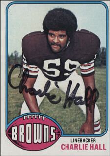 CHARLIE HALL - TRADING/SPORTS CARD SIGNED