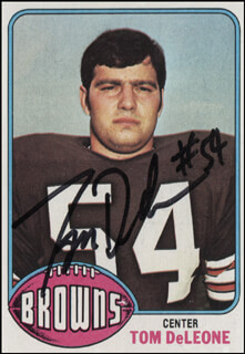 TOM DELEONE - TRADING/SPORTS CARD SIGNED