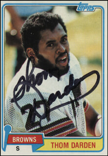 Autographs: THOM DARDEN - TRADING/SPORTS CARD SIGNED