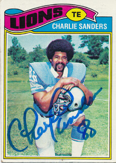 CHARLIE SANDERS - TRADING/SPORTS CARD SIGNED