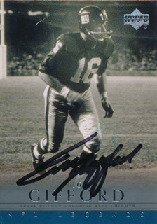 FRANK GIFFORD - TRADING/SPORTS CARD SIGNED