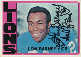 Autographs: LEM BARNEY - TRADING/SPORTS CARD SIGNED