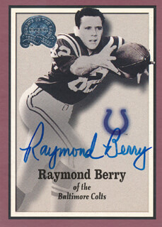 RAYMOND BERRY - TRADING/SPORTS CARD SIGNED