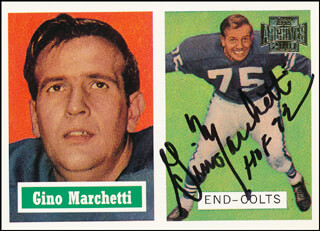 Autographs: GINO MARCHETTI - TRADING/SPORTS CARD SIGNED