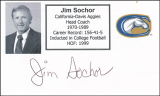 JIM SOCHOR - PRINTED CARD SIGNED IN INK