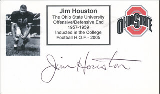 JIM HOUSTON - PRINTED CARD SIGNED IN INK