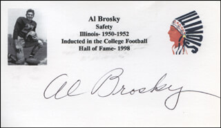 AL BROSKY - PRINTED CARD SIGNED IN INK