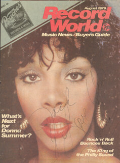 DONNA SUMMER - INSCRIBED MAGAZINE COVER UNSIGNED