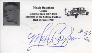 MAXIE BAUGHAN - PRINTED CARD SIGNED IN INK