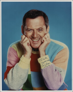 TONY RANDALL - AUTOGRAPHED INSCRIBED PHOTOGRAPH 01/06/2001