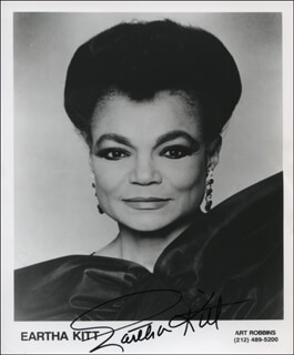 EARTHA KITT - PRINTED PHOTOGRAPH SIGNED IN INK