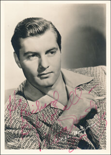 GEORGE MONTGOMERY - AUTOGRAPHED INSCRIBED PHOTOGRAPH