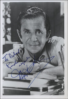 MOREY AMSTERDAM - AUTOGRAPHED INSCRIBED PHOTOGRAPH