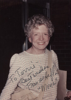 FRANCES HEFLIN - AUTOGRAPHED INSCRIBED PHOTOGRAPH