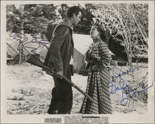 WOMAN OF THE NORTH COUNTRY MOVIE CAST - PRINTED PHOTOGRAPH SIGNED IN INK CO-SIGNED BY: GALE STORM, ROD CAMERON