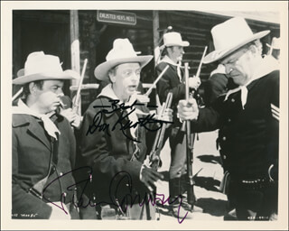 THE APPLE DUMPLING GANG RIDES AGAIN MOVIE CAST - AUTOGRAPHED SIGNED PHOTOGRAPH CO-SIGNED BY: TIM CONWAY, DON KNOTTS