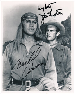 Autographs: BROKEN ARROW TV CAST - PHOTOGRAPH SIGNED CO-SIGNED BY: MICHAEL ANSARA, JOHN LUPTON