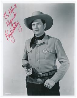 RAY WHITLEY - AUTOGRAPHED INSCRIBED PHOTOGRAPH