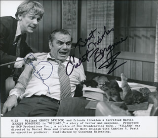 WILLARD MOVIE CAST - PRINTED PHOTOGRAPH SIGNED IN INK CO-SIGNED BY: ERNEST BORGNINE, BRUCE DAVISON
