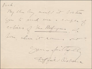 DUFFIELD OSBORNE - AUTOGRAPH LETTER SIGNED 07/19/1915