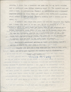 FRANK B. LONG - TYPED LETTER SIGNED 10/07/1961