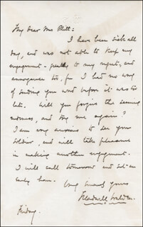 ARTHUR TREADWELL WALDEN - AUTOGRAPH LETTER SIGNED