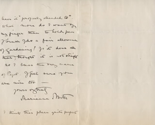 MARIANNE NORTH - AUTOGRAPH LETTER SIGNED 09/02