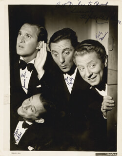 THE YACHT CLUB BOYS - AUTOGRAPHED SIGNED PHOTOGRAPH CO-SIGNED BY: THE YACHT CLUB BOYS (BILLY MANN), THE YACHT CLUB BOYS (CHARLES ADLER), THE YACHT CLUB BOYS (GEORGE KELLY), JAMES V. JIMMIE KERN