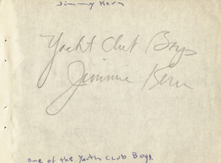 JIMMIE (JAMES V.) KERN - AUTOGRAPH