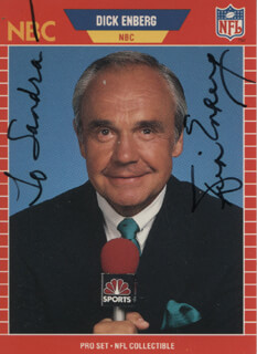 DICK ENBERG - INSCRIBED TRADING/SPORTS CARD SIGNED