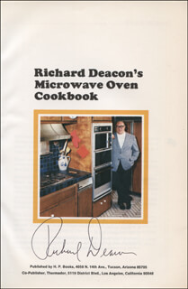 RICHARD DEACON - BOOK SIGNED