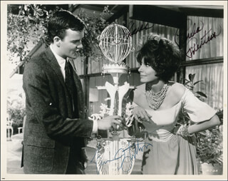 LOOKING FOR LOVE MOVIE CAST - AUTOGRAPHED SIGNED PHOTOGRAPH CO-SIGNED BY: JIM HUTTON, PAULA PRENTISS