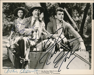 HOUND-DOG MAN MOVIE CAST - PRINTED PHOTOGRAPH SIGNED IN INK CO-SIGNED BY: FABIAN, ARTHUR O'CONNELL, BETTY FIELD