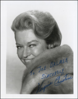 VIRGINIA CHRISTINE - AUTOGRAPHED INSCRIBED PHOTOGRAPH