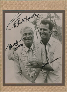 THE ROCKFORD FILES TV CAST - AUTOGRAPHED INSCRIBED PHOTOGRAPH CO-SIGNED BY: NOAH BEERY JR., JAMES GARNER