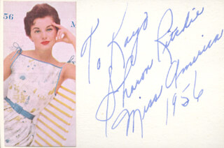 SHARON RITCHIE - AUTOGRAPH NOTE SIGNED 1956